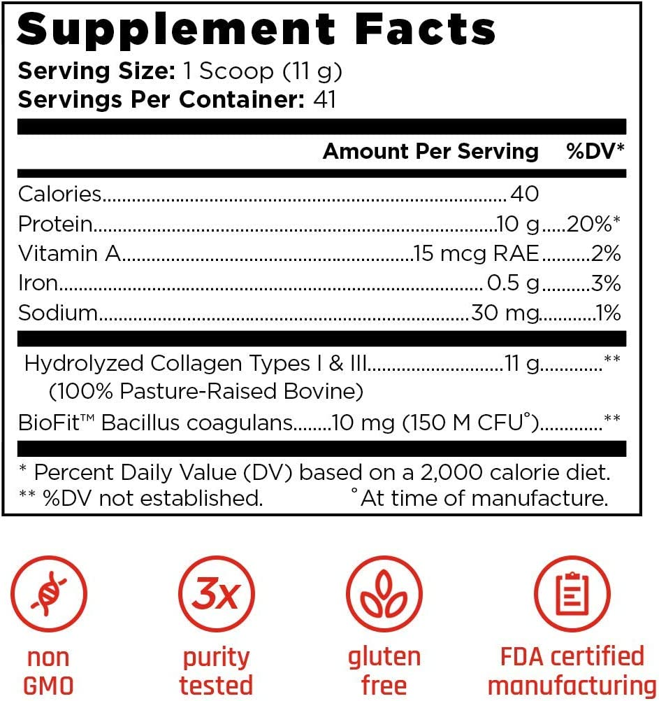 Old School Labs clásico colágeno - hidrolizadas péptidos de colágeno - hormona-libre, libre de antibióticos, criados en pastos - olympias y el físico ...