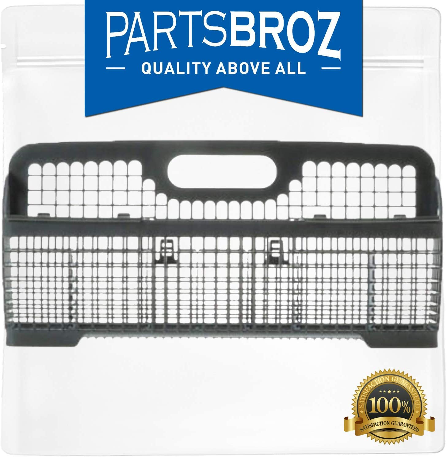 WP8531233 Silverware Basket by PartsBroz - Compatible with Whirlpool Dishwashers - Replaces AP6012898, 8531233, PS11746119, WP8531233VP