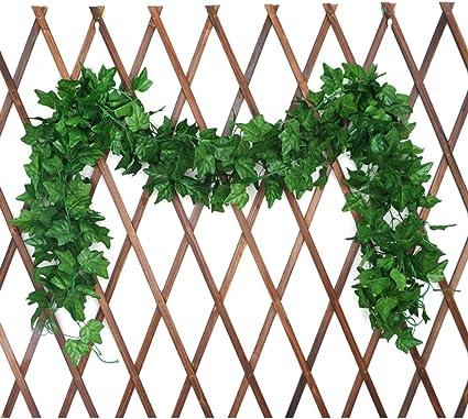 5 piezas simulación de hiedra artificial flor falsa rota guirnalda de plástico vid planta hoja verde en casa boda fiesta jardín jardín decoración (230cm / 90.6in) A+ (Color : Sweet potato