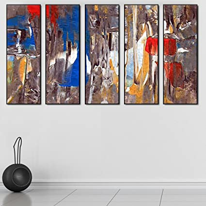 Amazon.com: 999STORE multiple frames canvas printed abstract brown ...