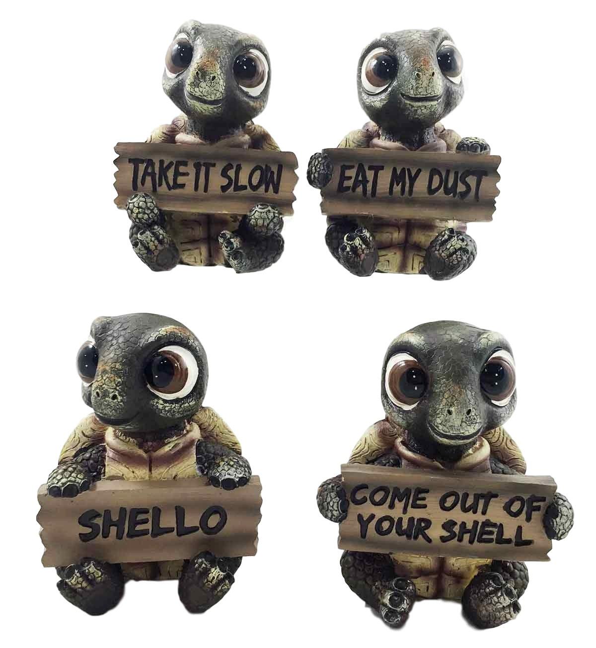 Famous Amazon.com: Ebros Whimsical Cute Sea Turtles Set of Four Statue  BN63