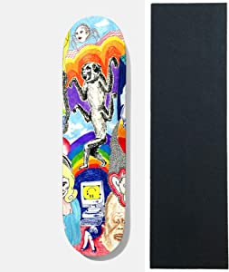 """Baker Skateboard Deck Andrew Reynolds Thoughts 8.0"""" x 31.5"""" with Grip"""