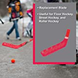 "Cramer Cosom Hockey Stick Replacement Plastic Blade for Elementary (36""), Junior (42"") and Senior (47"") Models, Hockey Practice and Training Equipment, High School Physical Education Equipment, Red"