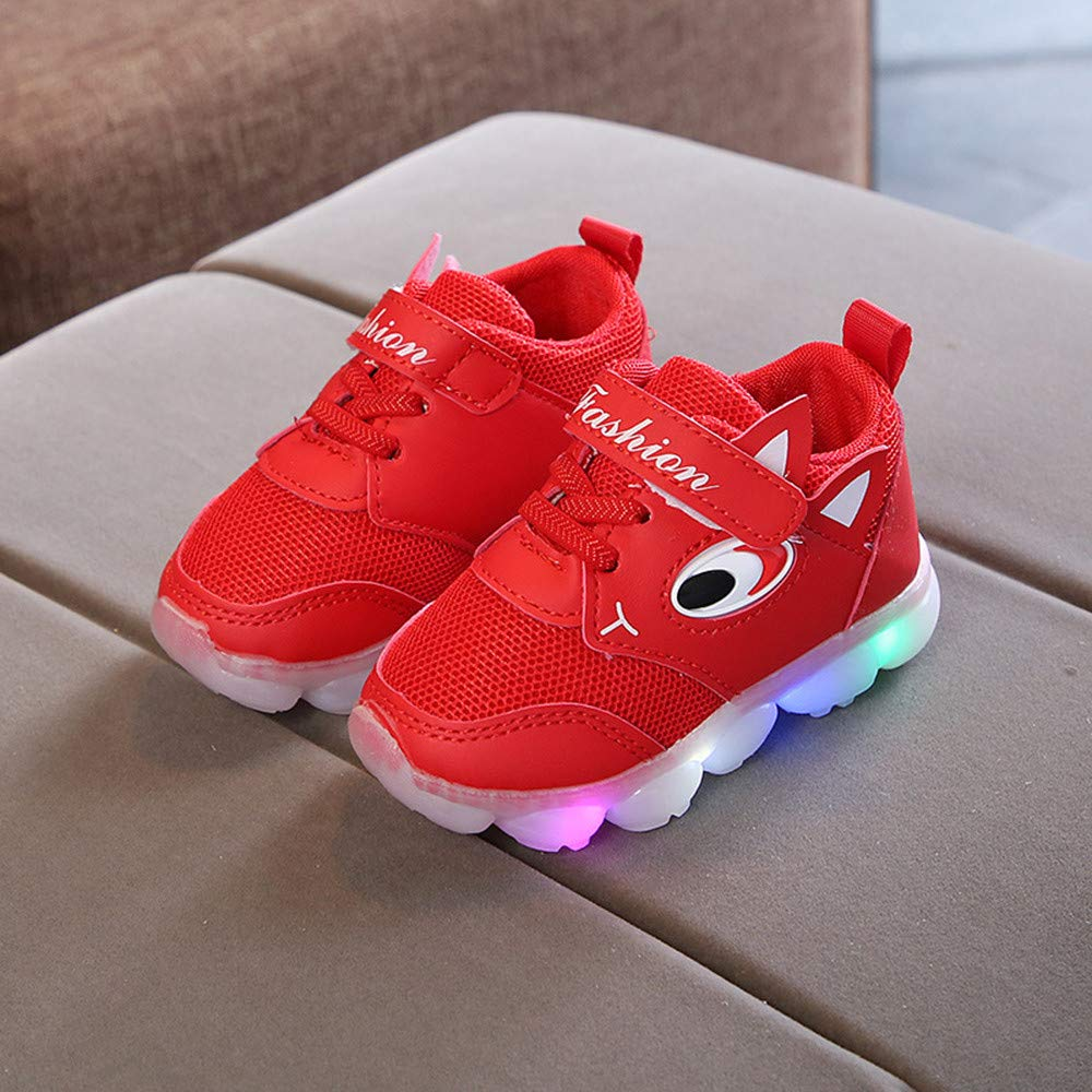Weiyun Toddler Baby Girs Led Light Shoes Boys Soft Luminous Outdoor Sport Shoes