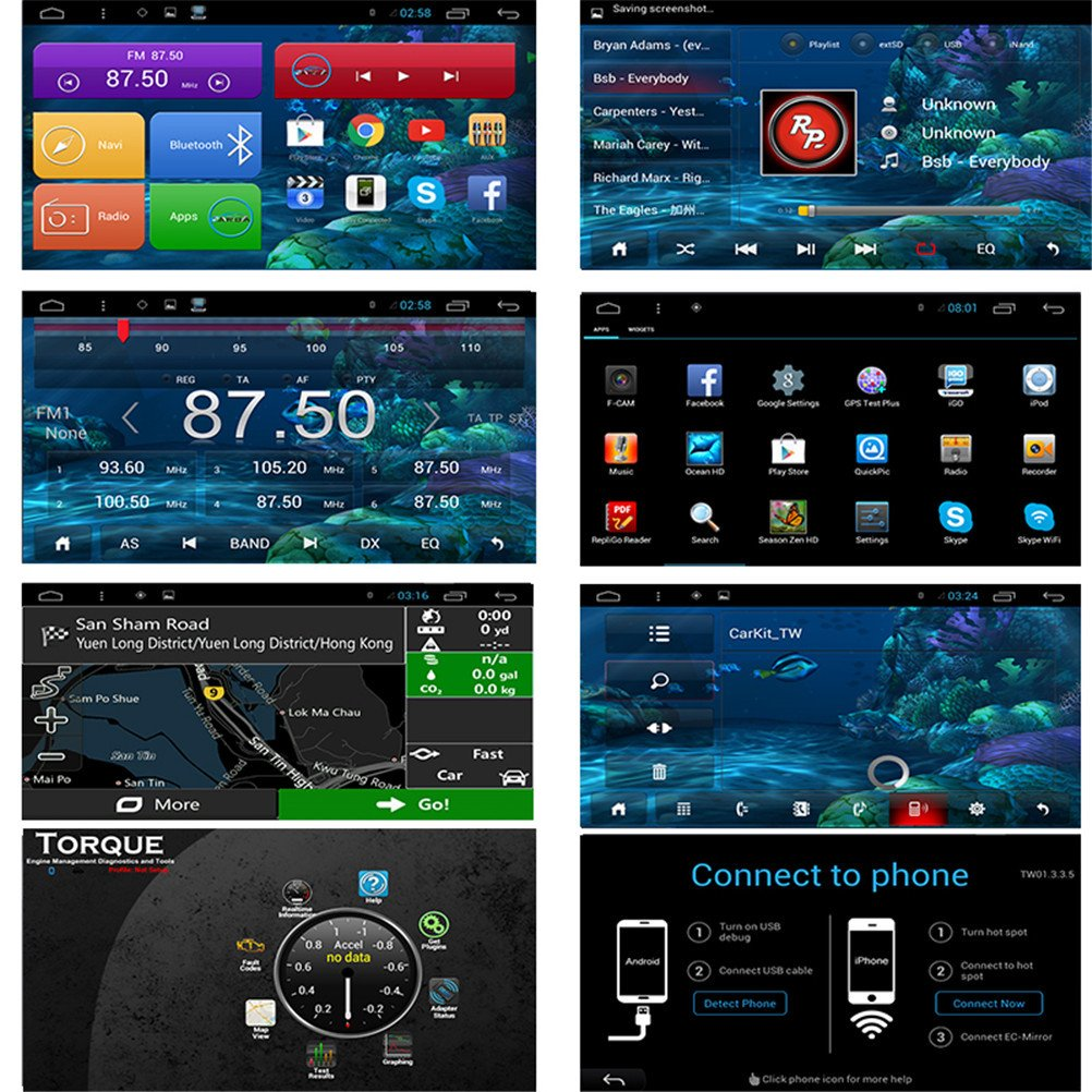 Top Navi 8inch 1024*600 Android 4 4 Car PC Player for Volvo
