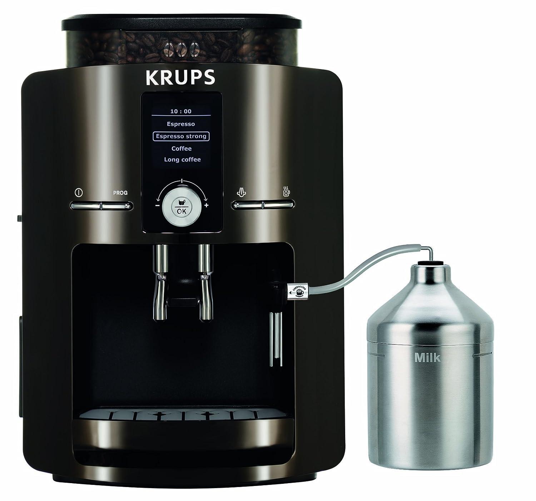 Krups EA 8280, Negro, Cromo, 1450 W, 9600 g - Máquina de café: Amazon.es: Hogar