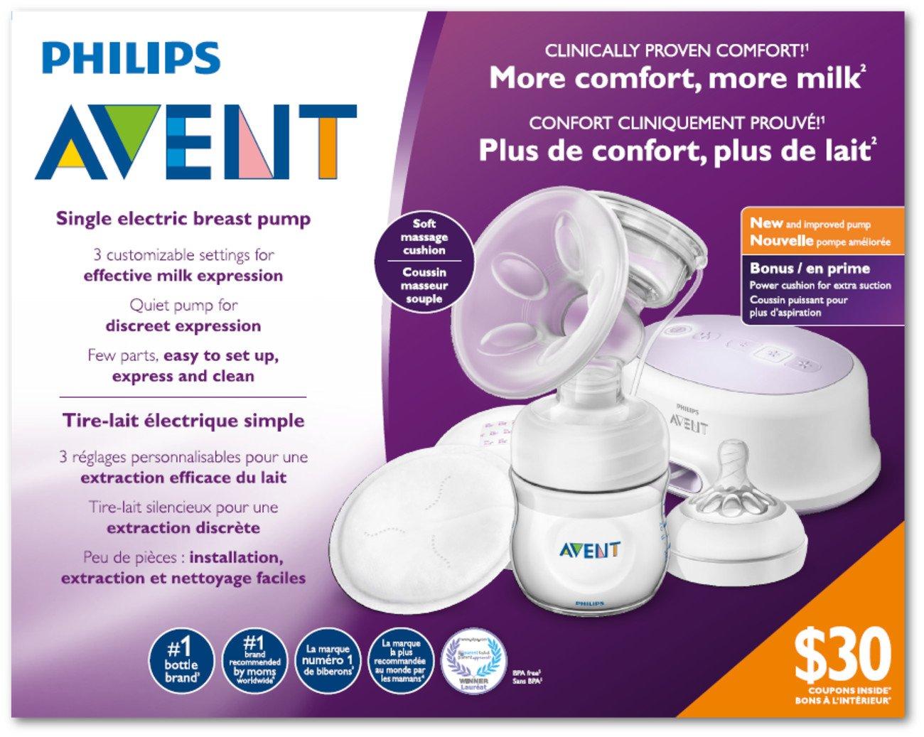 NEW Philips Avent Comfort Single Electric Breast Pump SCF332//21