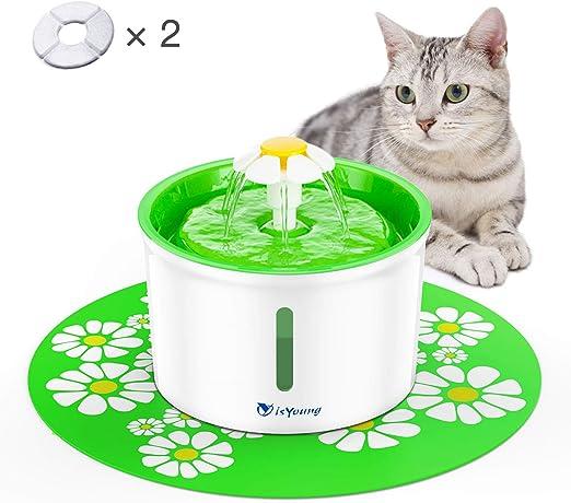 isYoung Fuente de Agua Silencioso 1.6L Gatos y Perros Bebedero ...