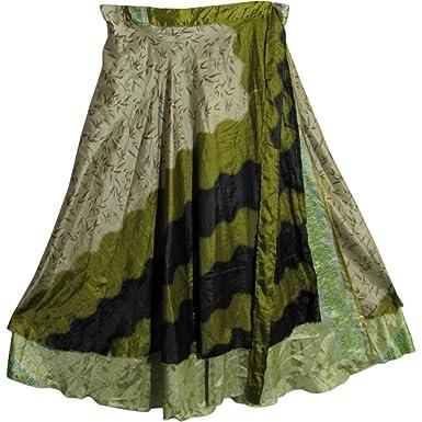 c3fa7609774 Yoga Trendz JK Indian Magic Bohemian Gypsy Silk Reversible Wrap ...