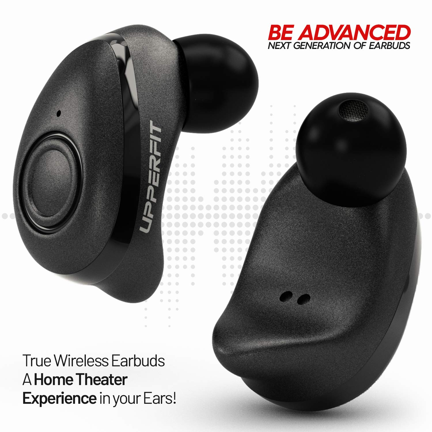 True Wireless Earbuds Headphones, Superior 3D Stereo Sound 5 0 Mini Totally  Wireless in Ear Earbuds, 18Hr Play Time, SweatProof Sports Earphones
