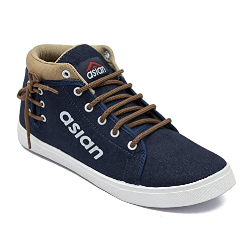 d6667d30f089 Asian shoes CYBER-101 Navy Blue Brown Men Casual Shoes 6UK Indian ...