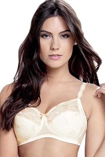 b6650d69a Rosa Faia Vienna Women s Non-wired Soft Bra with Embroidery 5692 34-44 B-E   Amazon.co.uk  Clothing