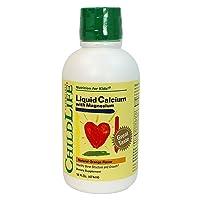 Child Life Liquid Calcium/Magnesium,Natural Orange Flavor Plastic Bottle, 16-Fl....