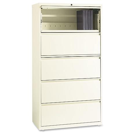 Lorell 5 cajón lateral mueble archivador de almacenamiento de cartón en nube