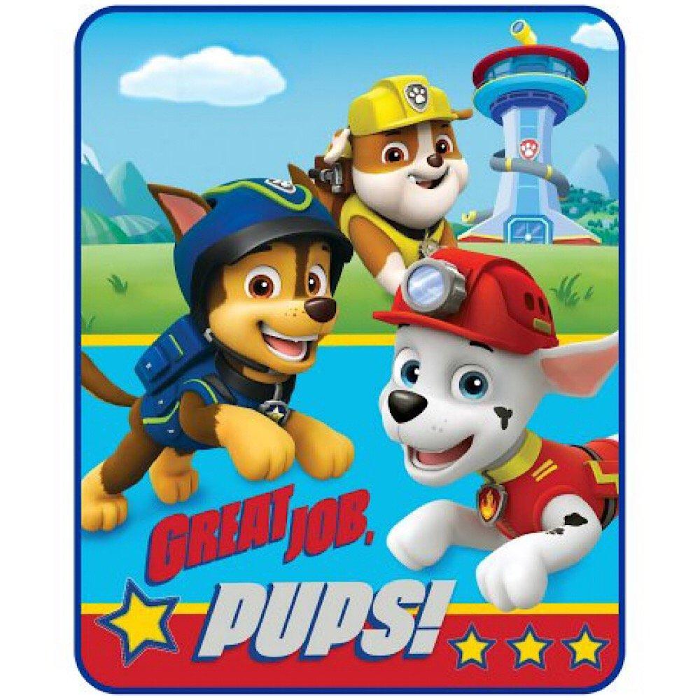 Nickelodeon Paw Patrol Kids Soft Throw Blanket Nick Jr Paw Patrol