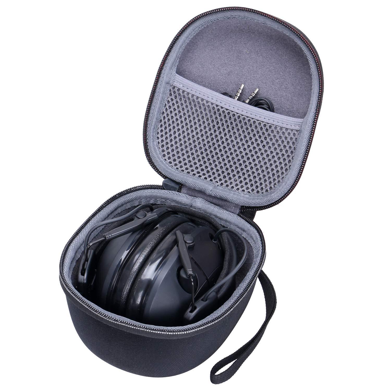 Case for Honeywell Howard Leight Impact Sport Earmuff Ear Defender & 3M PELTOR Electronic Ear Hearing Protector EVA Hard Travel Earmuff Case by XANAD ZDXTDMJ012