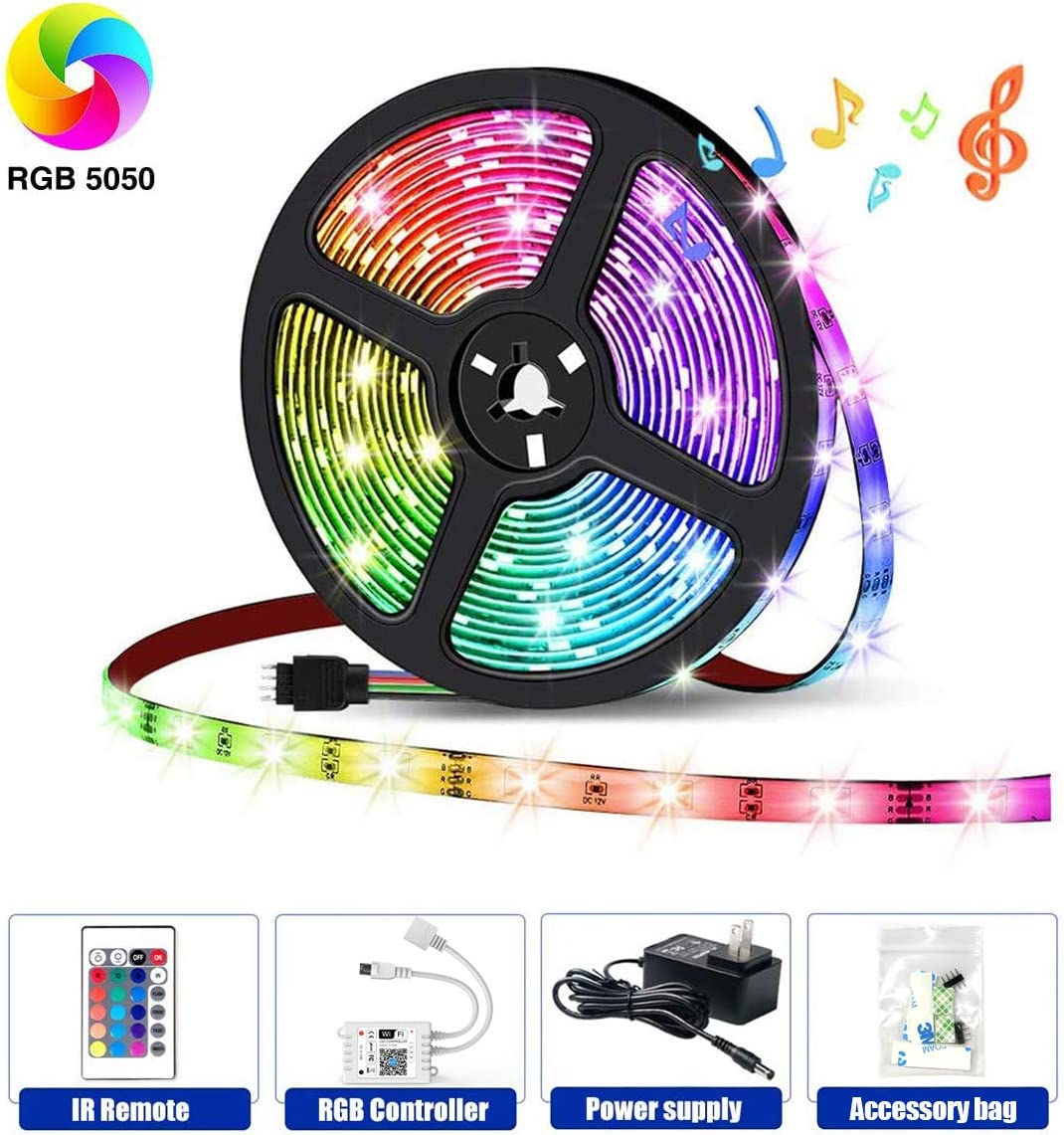 HaoDeng LED Light Strip RGB Strip Lights LED Tape Lights Compatible