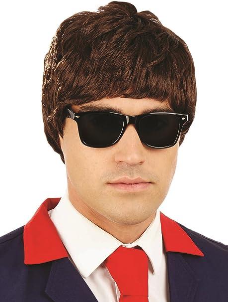 Deluxe Elvis Wig Black Mens 1950s Rock N Roll Teddy Boy Fancy Dress Accessory