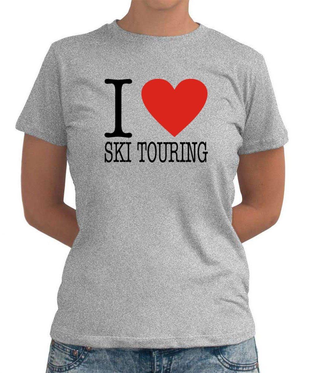I LOVE Ski Touring CLASSIC Dame T-Shirt