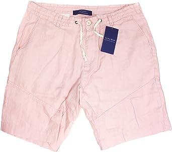 Zara - Pantalón corto - para hombre rosa rosa Medium: Amazon ...