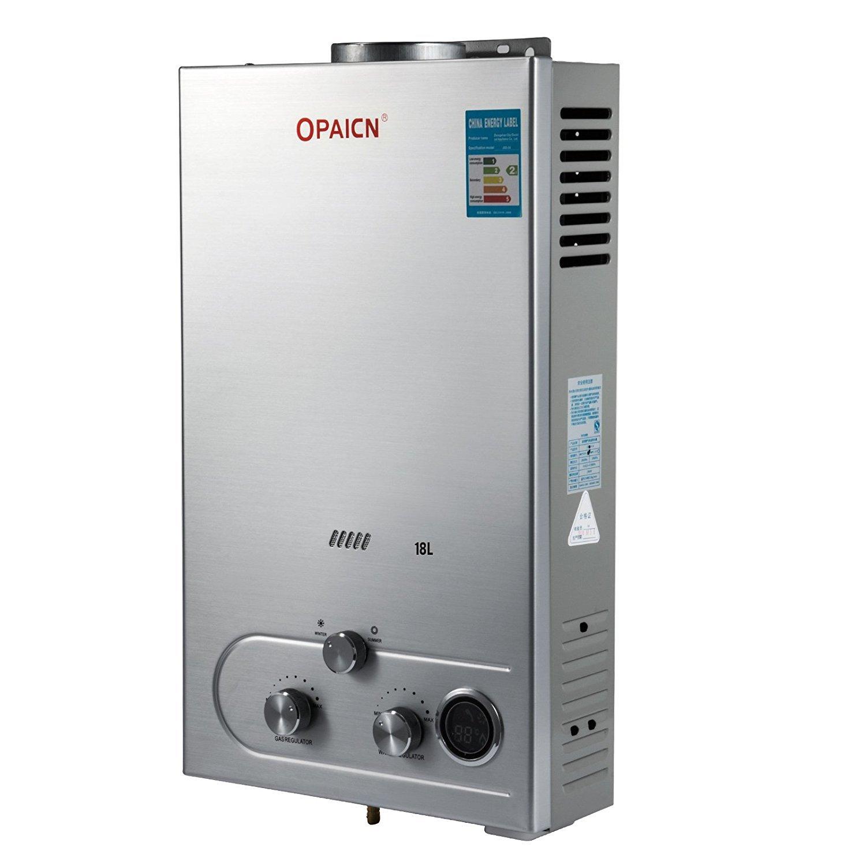 Moracle Calentador de Agua de Gas Licuado Calentador de Agua de Gas 18L LPG con Digital LCD Calentador de Agua Automático 36KW y Rápidamente: Amazon.es: ...