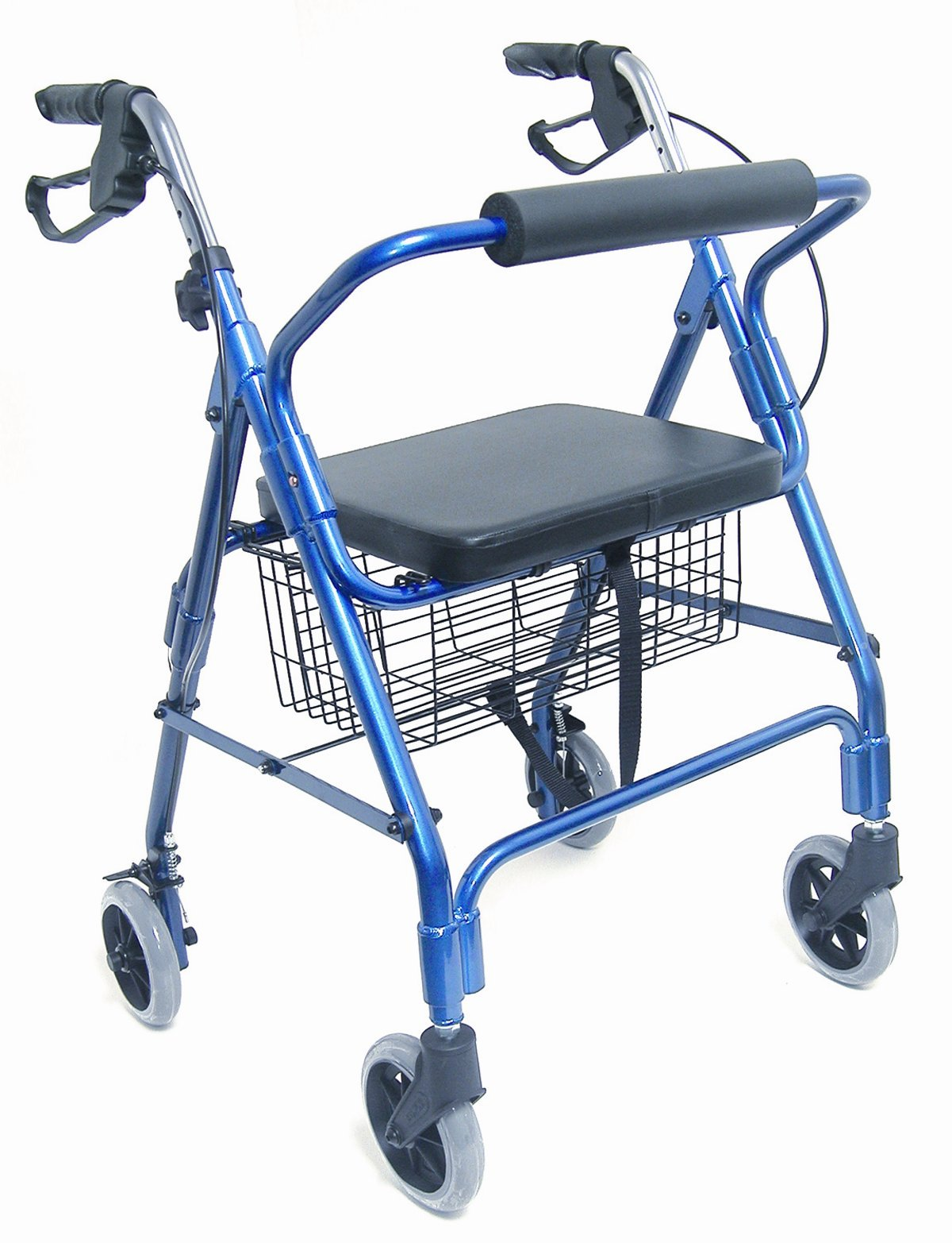 Mabis Dmi Healthcare Ultra Lightweight Aluminum Rollator, Royal Blue, One