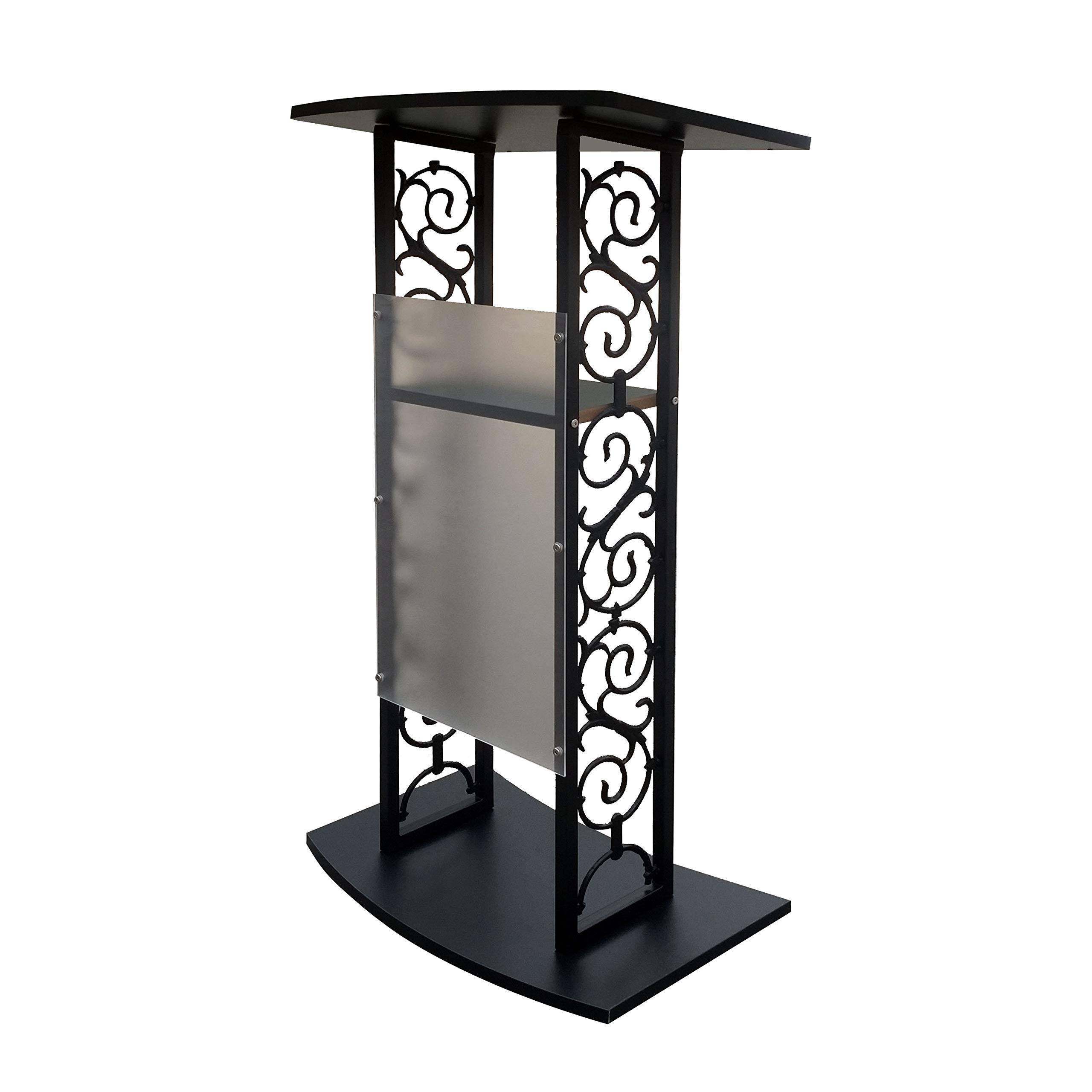 Fixture Displays Truss Podium Metal Pulpit Church Podium Conference Pulpit Event Lectern Cup Hold 18353-NPF!