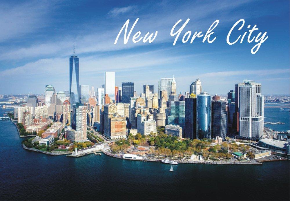 Amazon Com Manhattan Downtown Skyline New York City Freedom