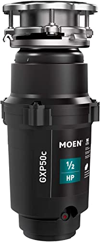 Moen GXP50C Prep Series PRO 1 2 HP Continuous Feed Garbage Disposal, Power Cord Included