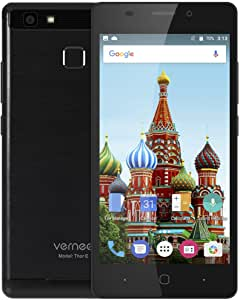 Vernee Thor E 4G Smartphone 5.0 Pulgadas Android 7.0 MTK6753 Octa Core 1.3GHz 3GB RAM 16GB ROM Touch Sensor 5020mAh Batería Full Metal Cuerpo (Negro): Amazon.es: Electrónica