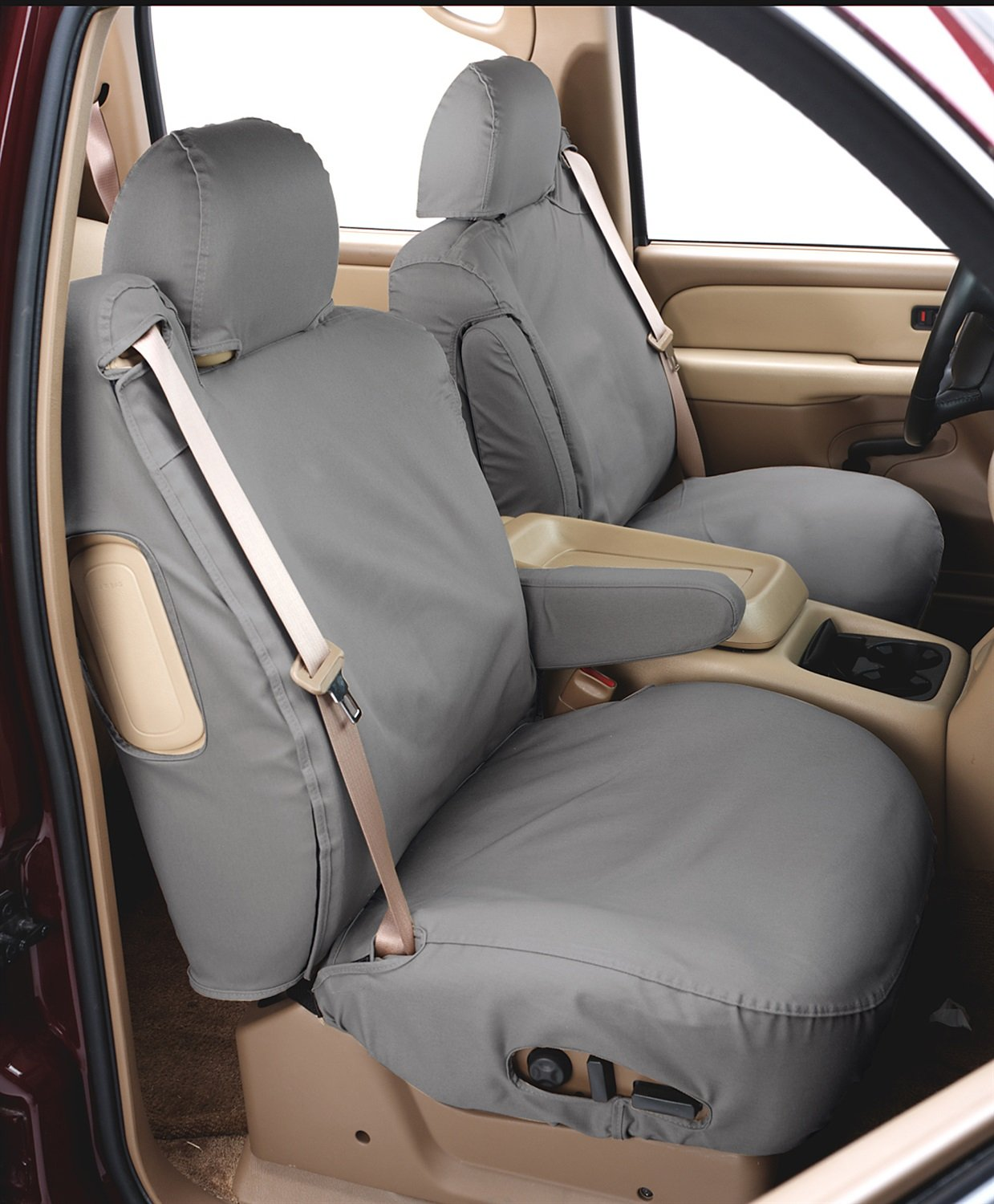 Covercraft SeatSaver Front Row Custom Fit Seat Cover for Select Ford Escape Models Grey Waterproof SS2462WFGY