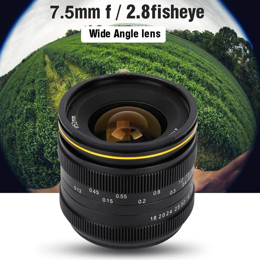 Serounder 7.5mm F//2.8 Fisheye 180/°Wide Angle Fixed Focus Lens for Sony E for Canon EF-M for FujiFilm FX for Olympus M4//3 Mount Mirrorless Cameras for Fujifilm FX Mount