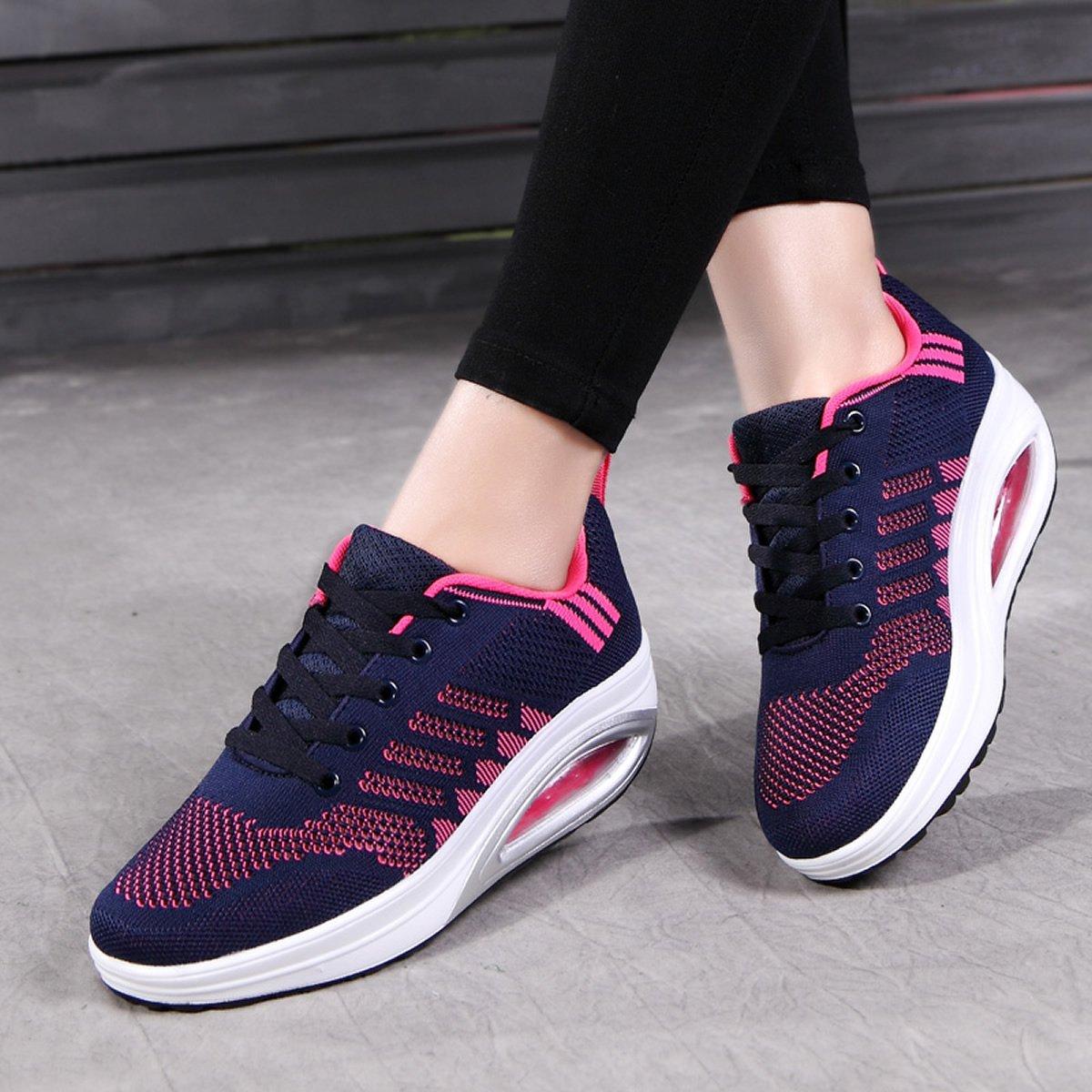 JARLIF Women's Comfortable Casual Platform Walking Sneakers Lightweight Casual Comfortable Tennis Air Fitness Shoes US5.5-10 B072B6GQBJ 5.5 B(M) Women / 5 D(M) Men / EU 36|Blue eb24e1