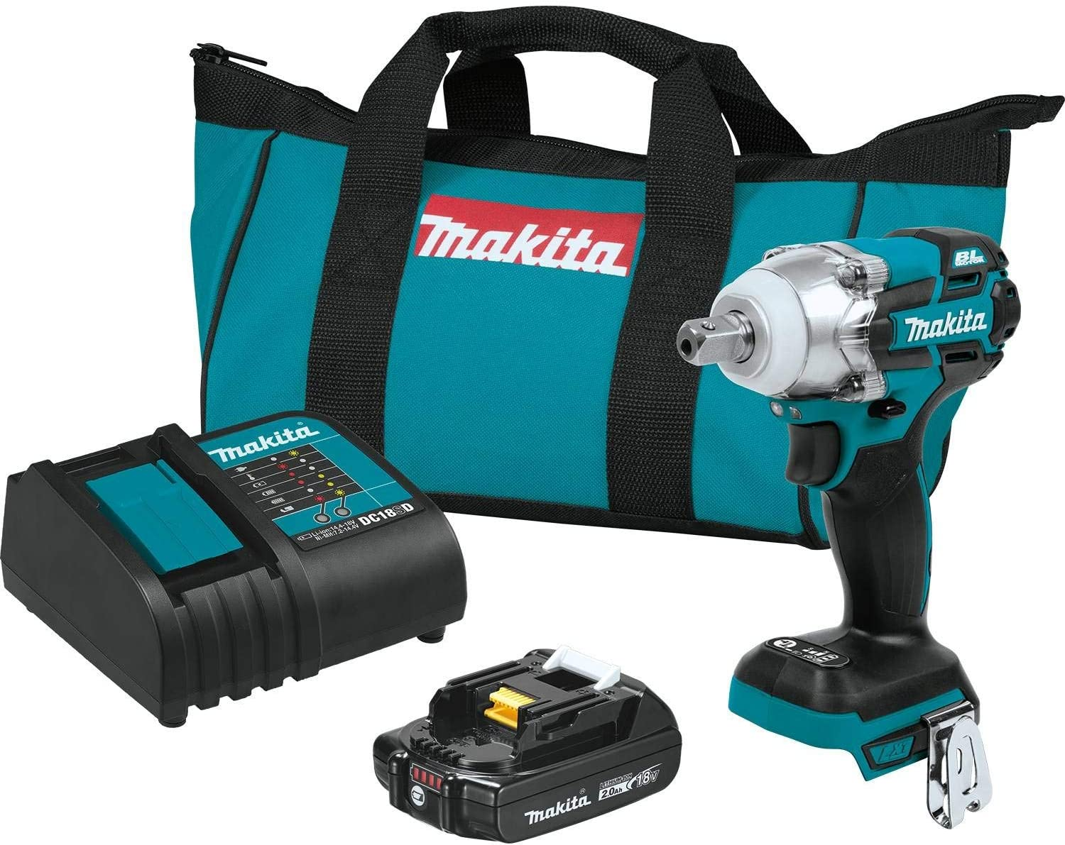 Makita XWT11SR1 18V LXT Lithium-Ion Compact Brushless Best Cordless Impact Wrench Kit