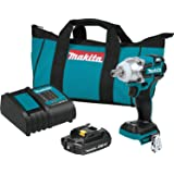 "Makita XWT11SR1 18V LXT Lithium-Ion Compact Brushless Cordless 3-Speed 1/2"" Sq. Drive Impact Wrench Kit (2.0Ah)"