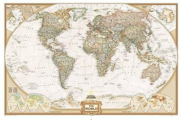 Carte Du Monde National Geographic.Carte Du Monde Executive De National Geographic 622088