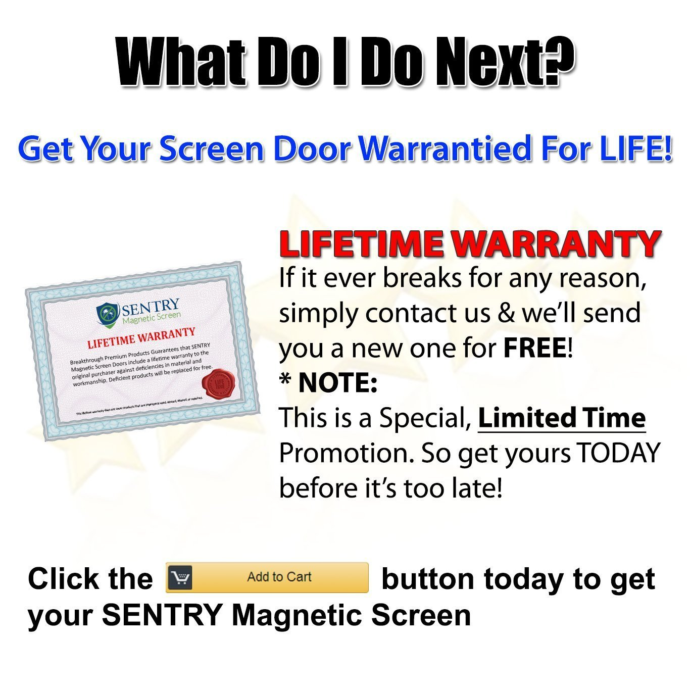 MAGNETIC SCREEN DOOR For French Door, Sliding Patio Door, Double Door    Covers The ENTIRE Door Frame   Offset To One Side To Perfectly Match Your  Door ...
