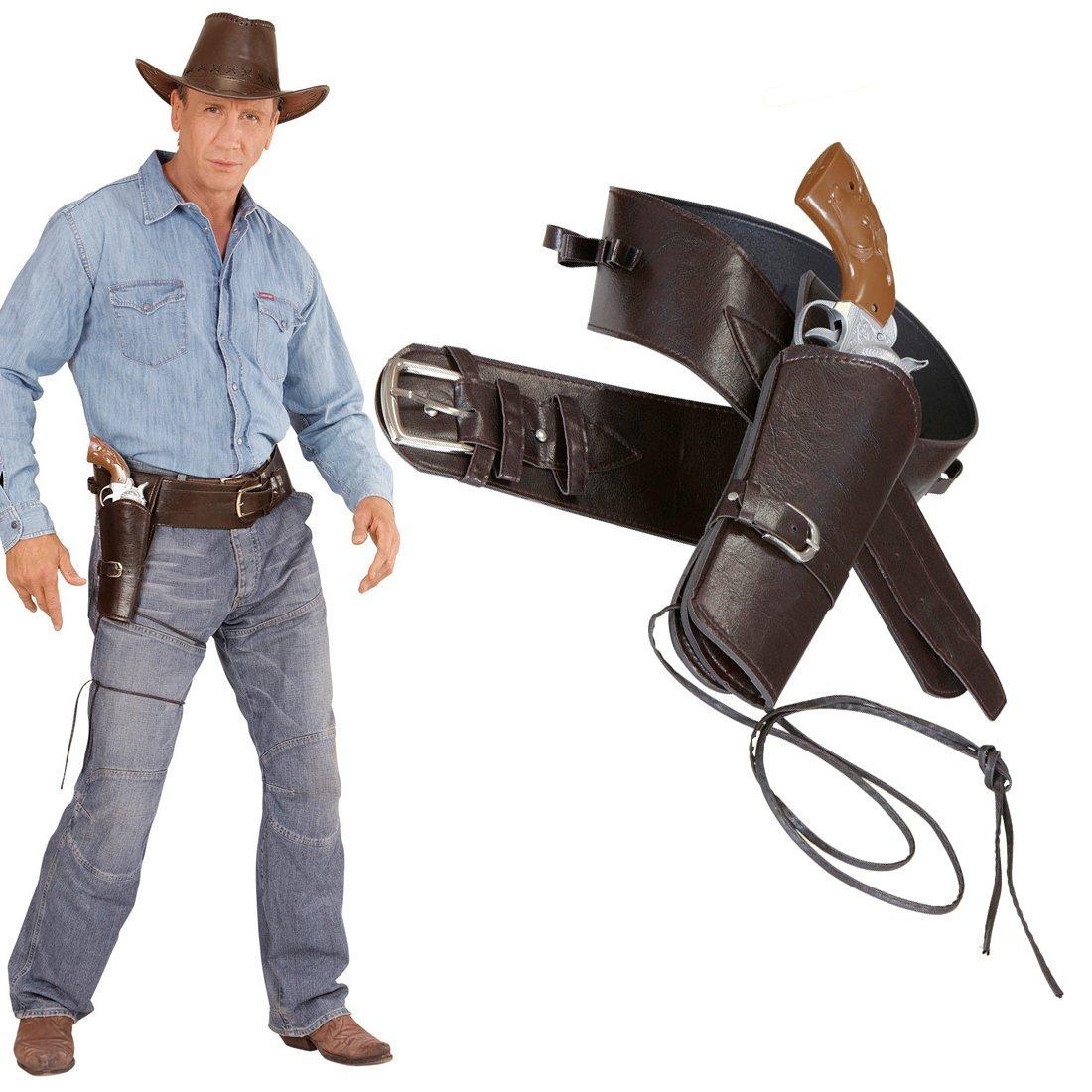 e35b6605d58e NET TOYS Holster Revolver Cowboy Porte-Pistolet Sheriff Marron Ceinture  Western Poche pour Pistolet Costume Cowboy  Amazon.fr  Jeux et Jouets