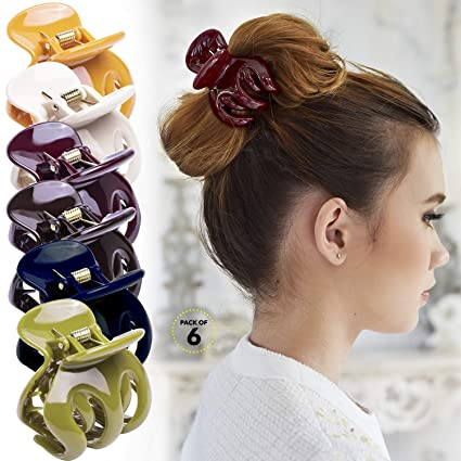 12 Pcs Women beautiful Colorful Big Hair Claw Clip Jaw Clamp Accessory US SELLER