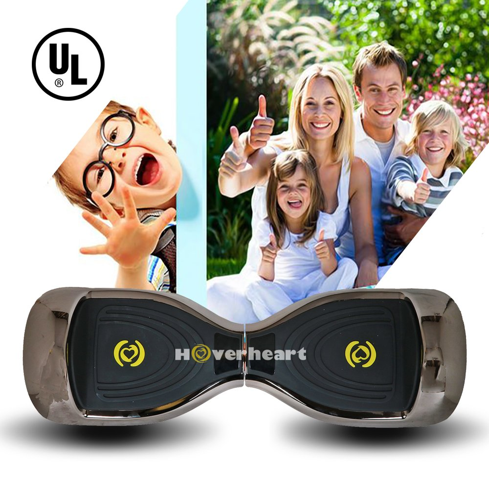 Hoverboard 6.5'' UL 2272 Listed Premium Two-Wheel Self Balancing Electric Scooter with Bluetooth Speaker (Chrome Titanium) by Hoverheart