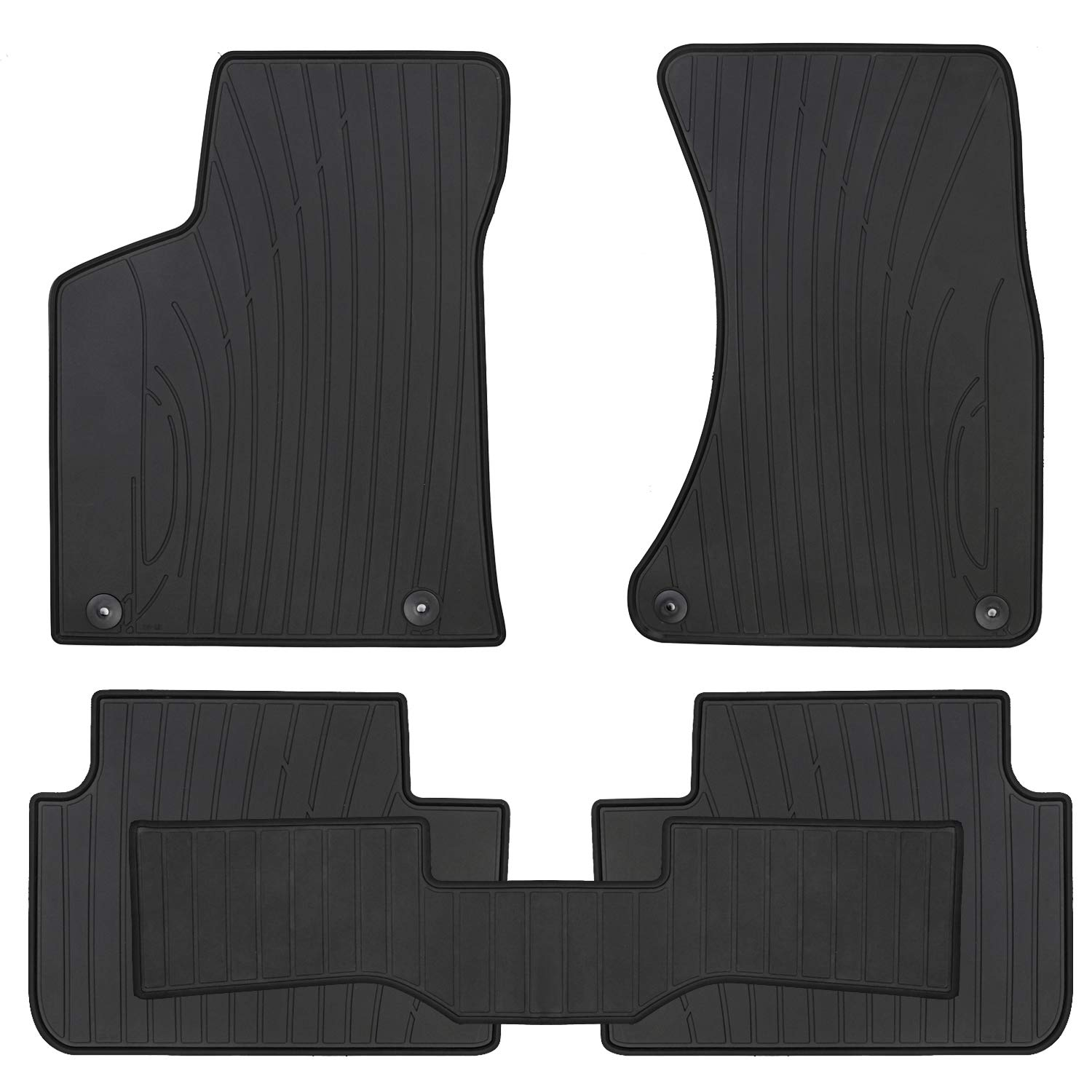 San Auto Car Floor Mat Rubber Custom Fit for Porsche Macan 2019 2018 2017 2016 2015 2014 Full Black Auto Floor Liners All Weather Heavy Duty Odorless