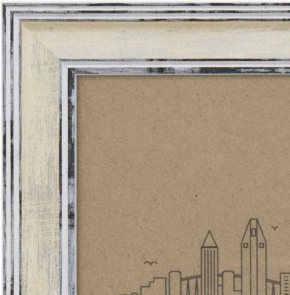 ROUND Picture Frame And Photo Mounts CREAM
