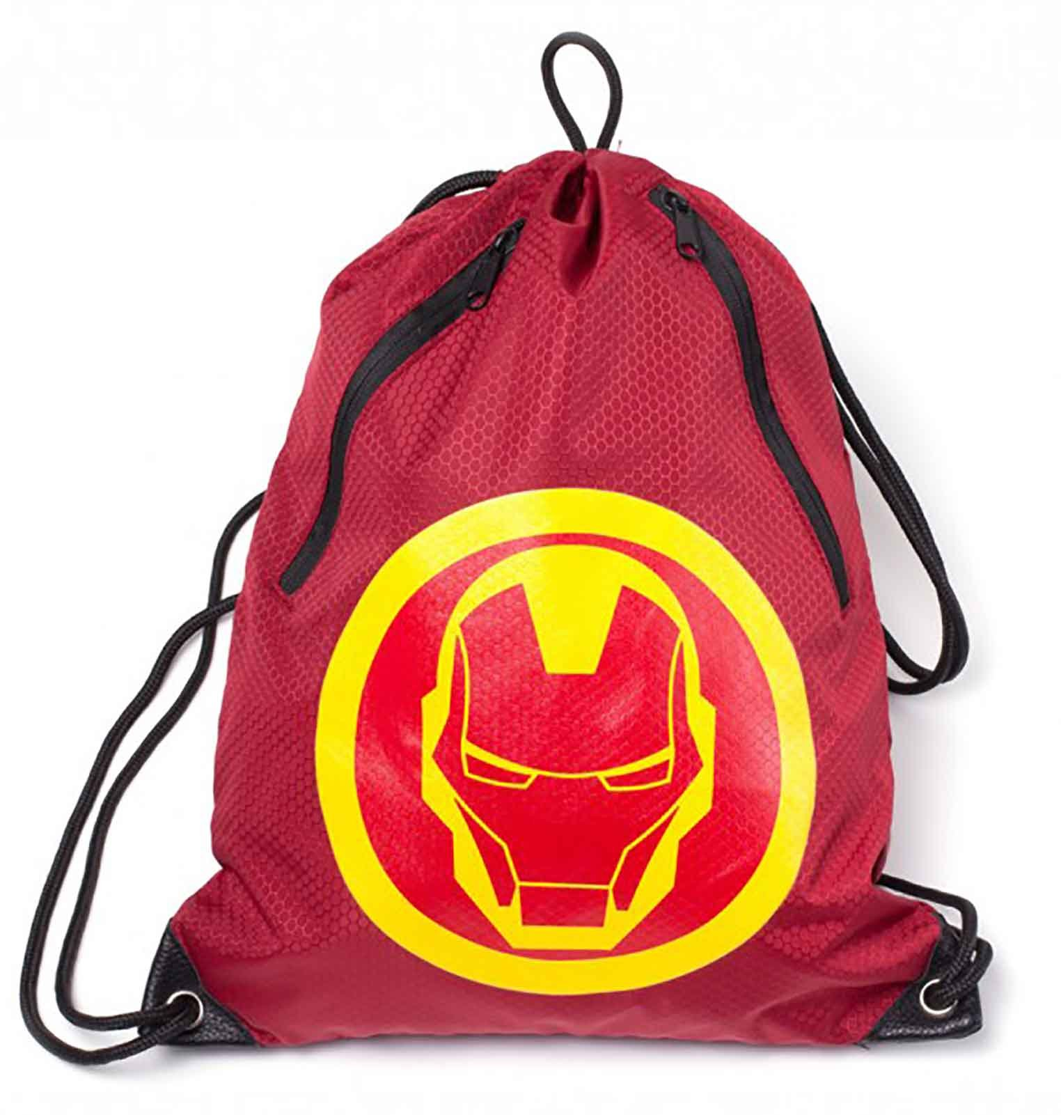 Iron Man Gym Bag Iron Man Mask Rubber Print Official Marvel Red