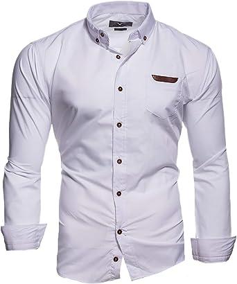Kayhan Arizona Slim-Fit - Camisa de manga larga para hombre (tallas S-6XL): Amazon.es: Ropa y accesorios