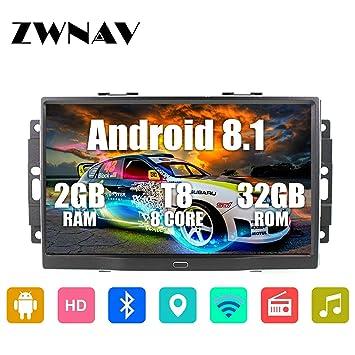 ZWNAV 9 Pulgadas Android 8.1 Coche estéreo para Chrysler Jeep ...