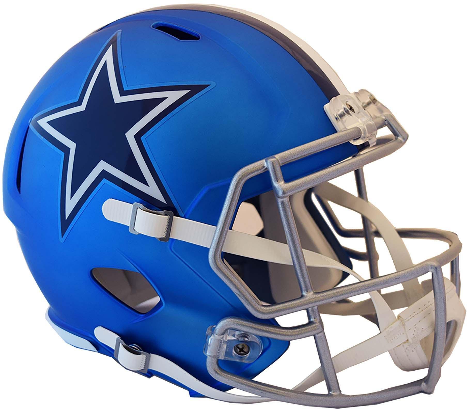 Riddell Dallas Cowboys Blaze Revolution Speed Full-Size Replica Football Helmet - Fanatics Authentic Certified