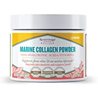 Reserveage, Marine Collagen Powder with Hyaluronic Acid and Vitamin C, Natural Dietary...