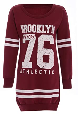 Damen New York Brooklyn 98 Bulls 69 Oversized Mini Kleid Lang ...