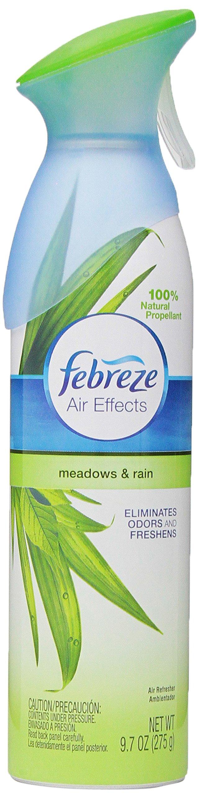 Febreze Air Freshener, Air Effects Meadows & Rain Air Freshener (9.7 Oz) (Pack of 9)