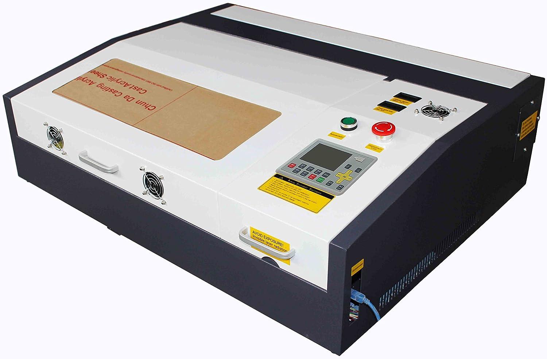 TEN-HIGH 400x400mm 15.7vx15.7 Inches 40W 220V Crafts máquina de Grabado láser con Puerto USB, versión estándar ...